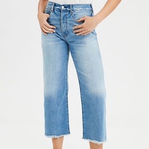 American Eagle wide leg cropped jeans